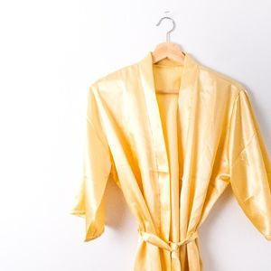 Other - Gold Robe With Tie Waist